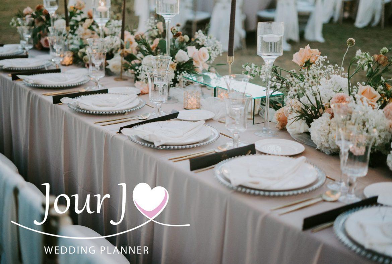 Une décoration de mariage pastel